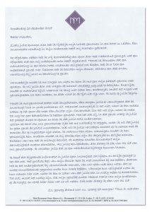 Brief van Titus Karsten aan het Heimdal genootschap