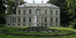 Foto van schilderij van onbekend landhuis