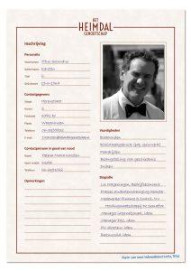 Inschrijving Titus Karsten in ledenadministratie Heimdal genootschap