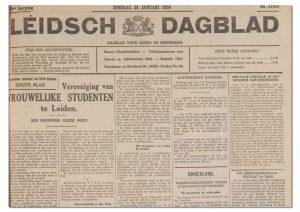 Leidsch-Dagblad 28 januari 1930