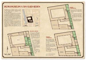 Brochure van Rijksmuseum voor Oudheden, circa 1928, met aantekeningen
